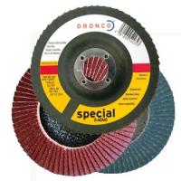 Dronco Fächerschleifscheiben für Stahl & Edelstahl - Korn 40
