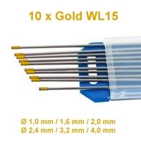 WIG Wolfram Elektroden WL-15 Gold