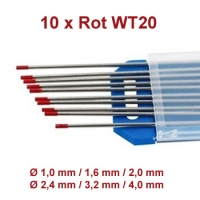 WIG Wolfram Elektroden WT-20 Rot