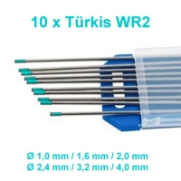 WIG Wolfram Elektroden WR-02 Türkis