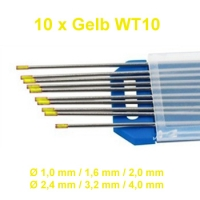 WIG Wolfram Elektroden WT-10 Gelb